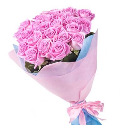 """Букет из 25 роз """"Розовая сказка"""""""