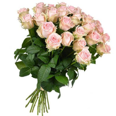 """Букет из 25 розовых роз, 60см """"Розовое небо"""""""