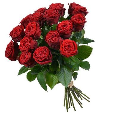"""Букет из 17 красных роз, 60см """"Танец огня"""""""