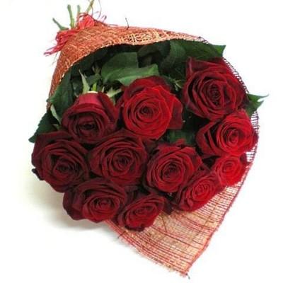 """Букет из 11 красных роз 60см """"Дольче Вита"""""""