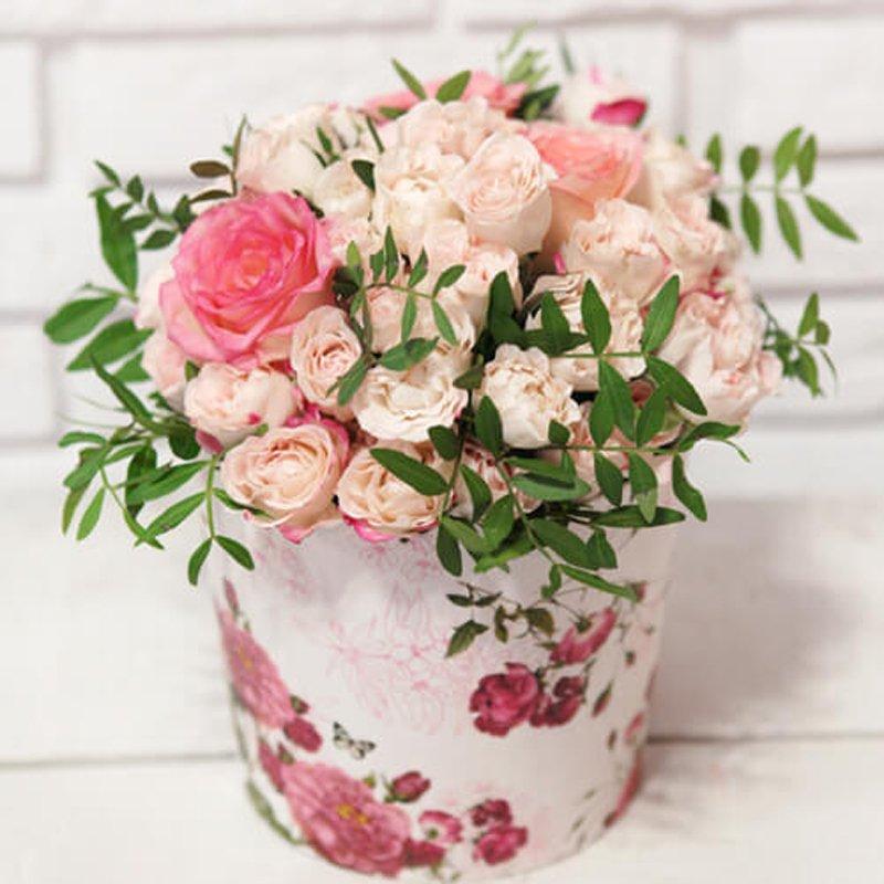 """Цветы в коробке """"Цветущий сад"""""""
