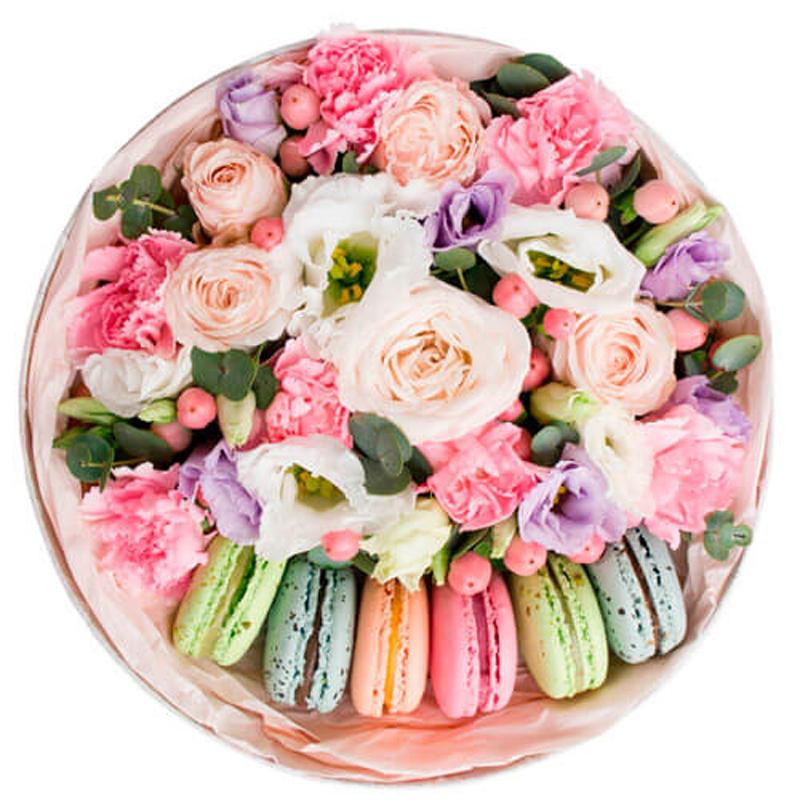 """Цветы в коробке """"Привет из Франции"""""""