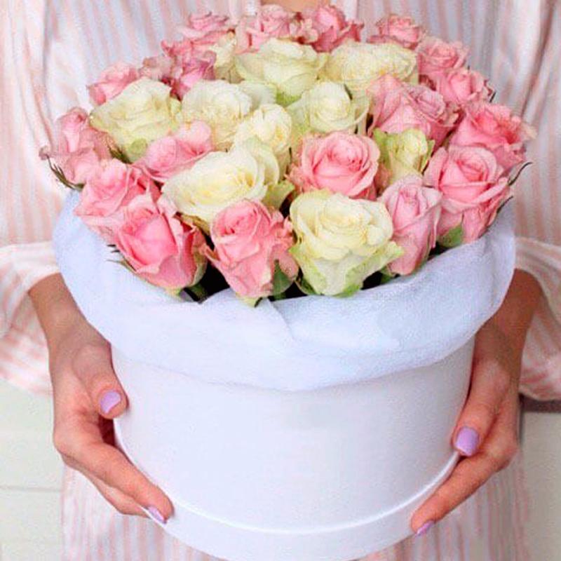 "Розы в коробке ""Коктейль"""