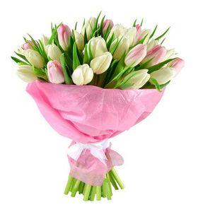 """Букет из 21 тюльпана """"Венеция"""". superflowers.com.ua"""