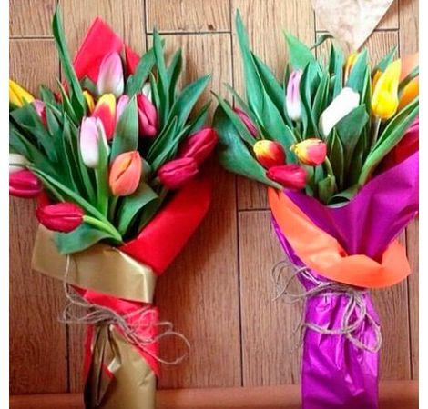 Букет з 15 тюльпанів мікс. Superflowers.com.ua