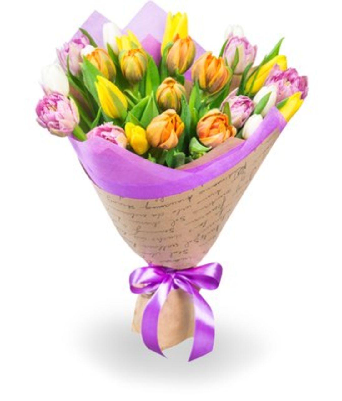 Букет з 25 тюльпанів. Superflowers.com.ua