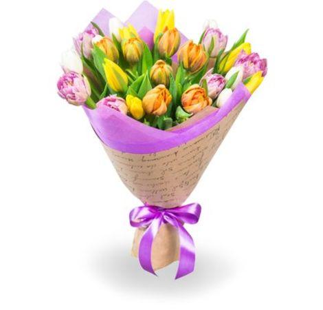 Букет из 25 тюльпанов. Superflowers.com.ua
