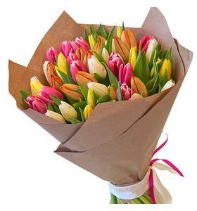 Букет з 51 тюльпана мікс