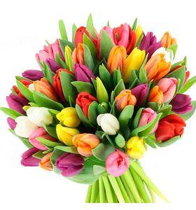 "Букет з 51 тюльпана ""Райдуга"""