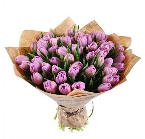 """Букет тюльпанів """"Місячна соната"""". Superflowers.com.ua"""