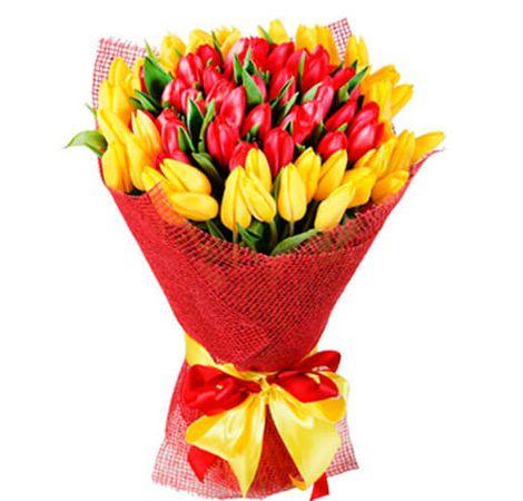 """Букет из тюльпанов """"Марсель"""". Superflowers.com.ua"""