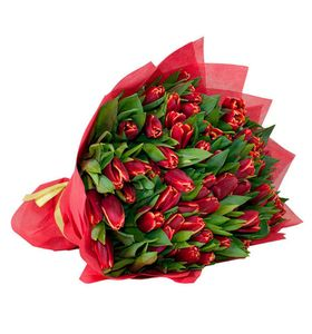 "51 красный тюльпан ""Яркая сказка"""
