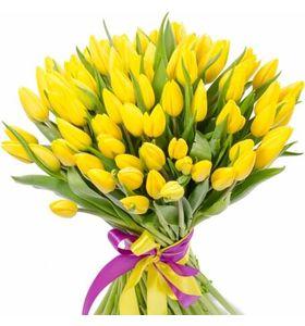 """Букет из желтых тюльпанов """"Загадка"""""""