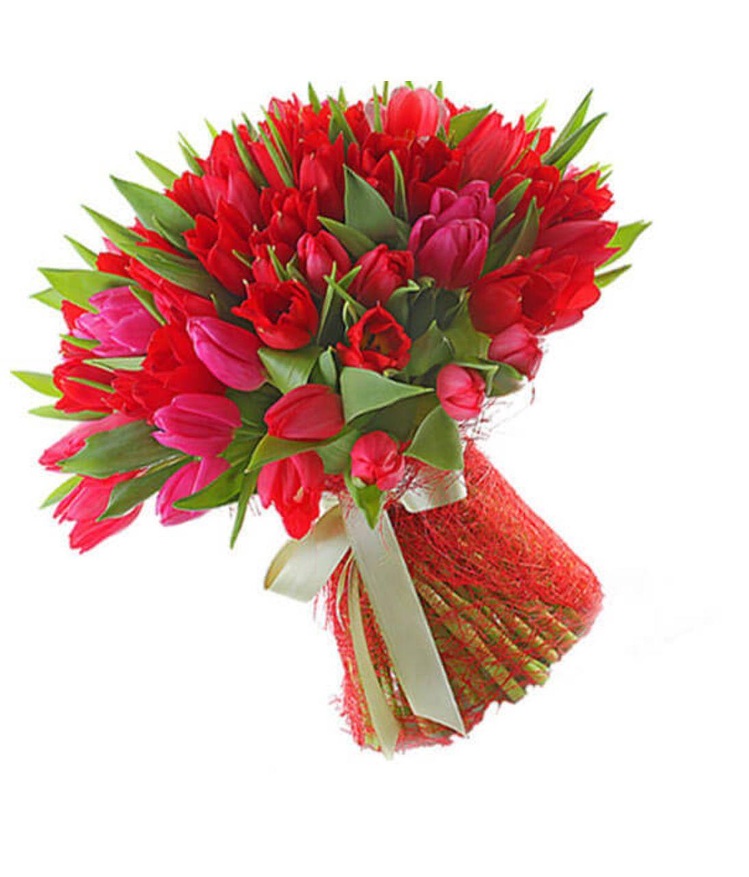 """Букет тюльпанов """"Неотразимая"""". Superflowers.com.ua"""