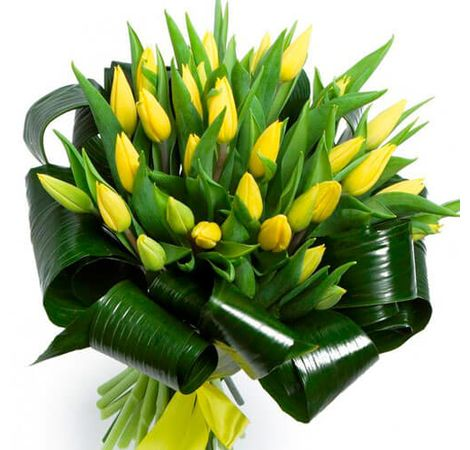"""Букет тюльпанів """"Сонячний день"""""""