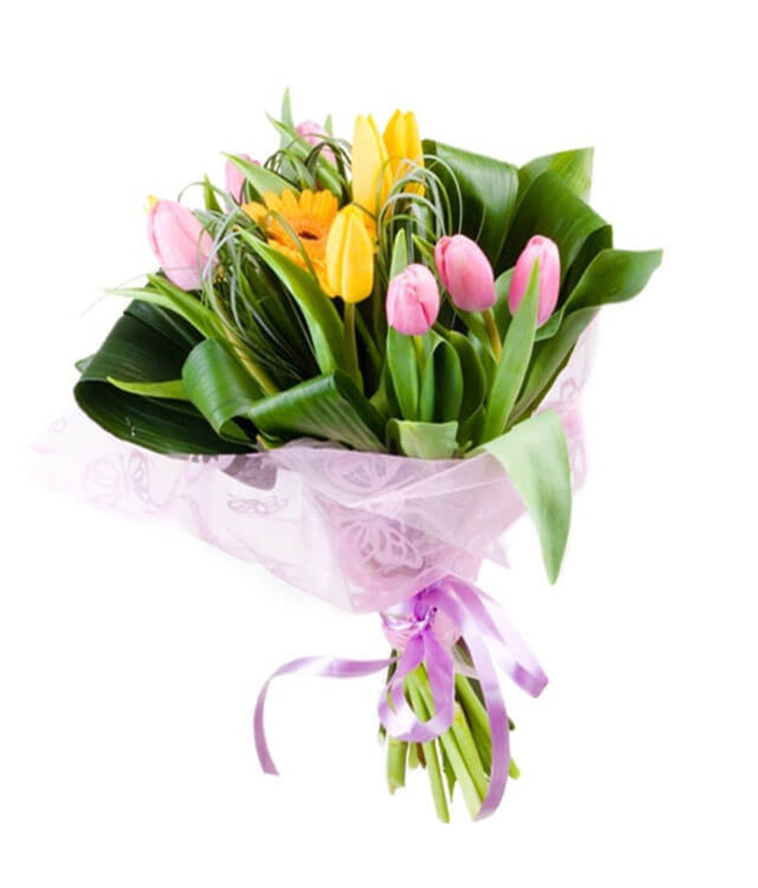 "Букет 9 тюльпанов микс ""Тюльпин"". Superflowers.com.ua"