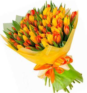"""51 тюльпанов микс """"Весеннее солнце"""""""