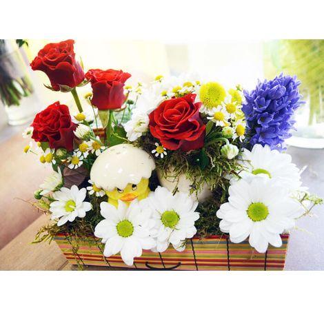 """Квіткова композиція """"Шепіт весни"""". Superflowers.com.ua"""
