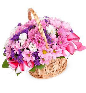 """Цветы в корзине """"Версаль"""""""