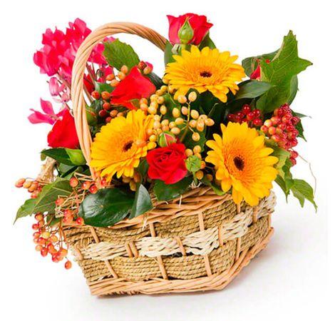 """Цветы в корзине """"Яркая сказка"""". Superflowers.com.ua"""