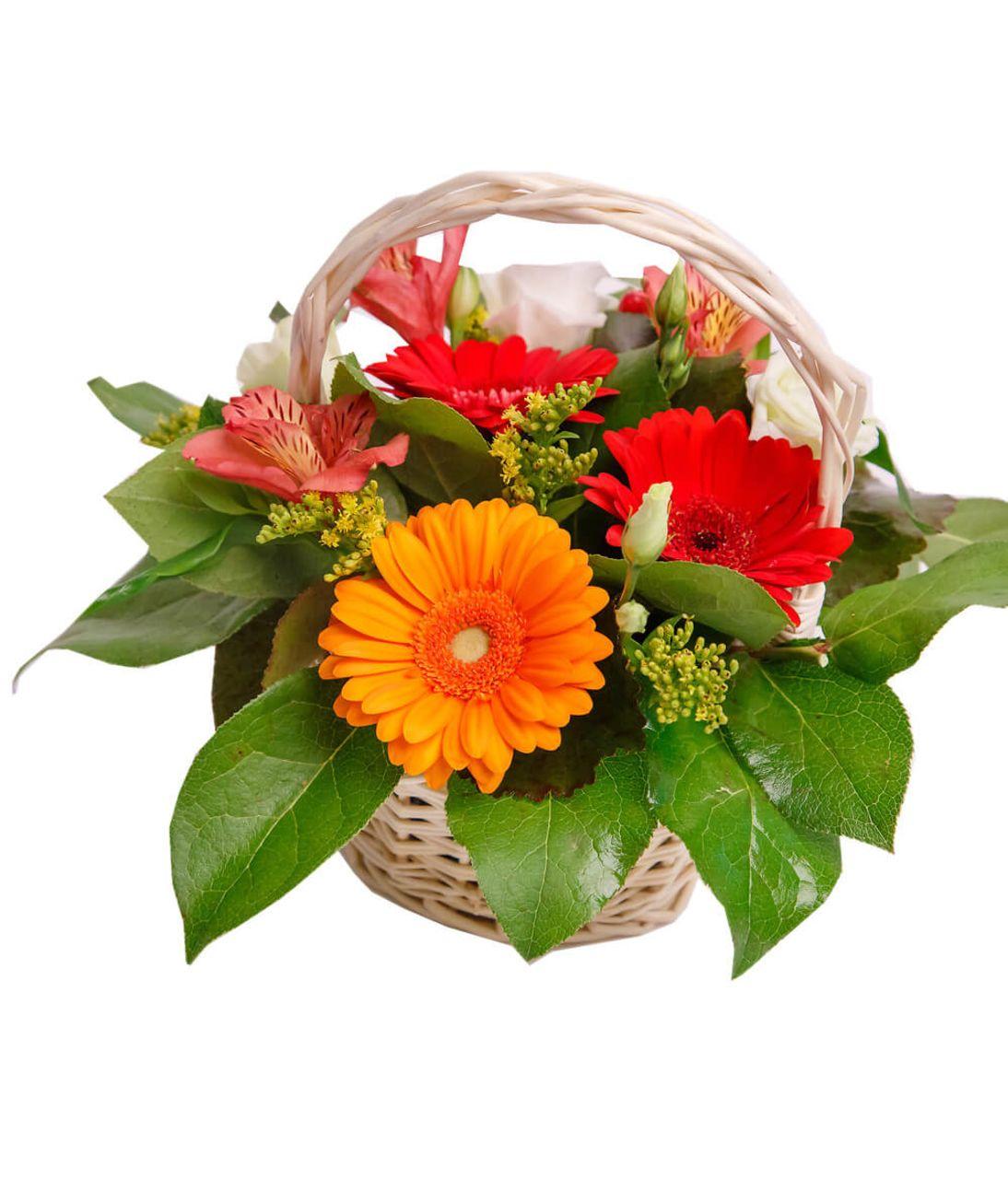 """Корзина цветов """"Оранж"""". Superflowers.com.ua"""