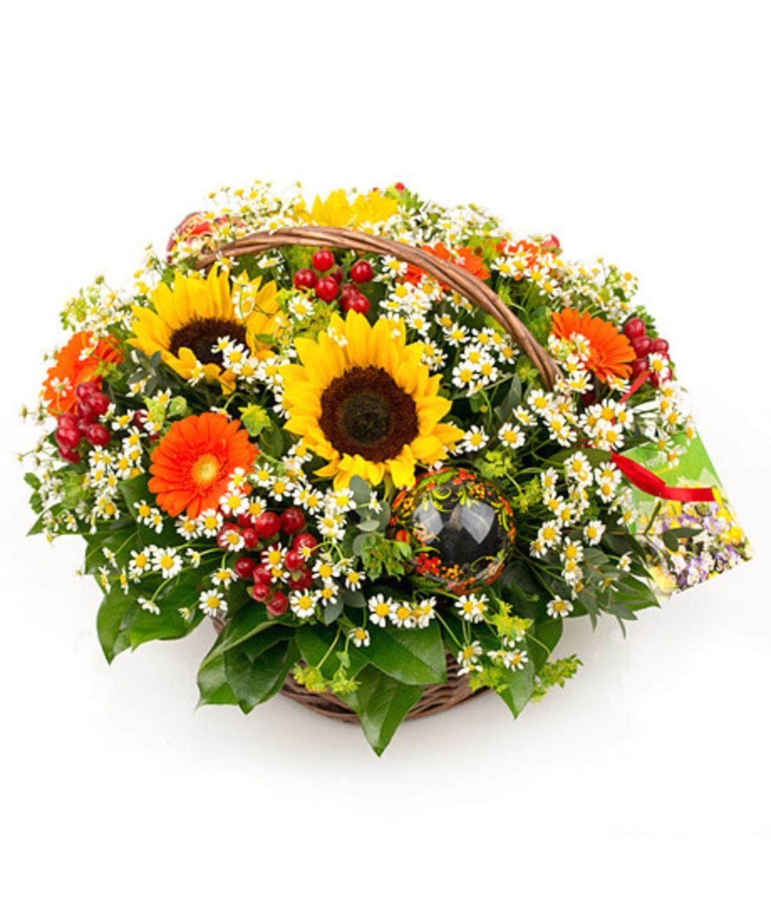 "Кошик квітів ""Поляна"". Superflowers.com.ua"