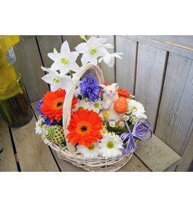 """Корзина цветов """"Радостный день"""""""