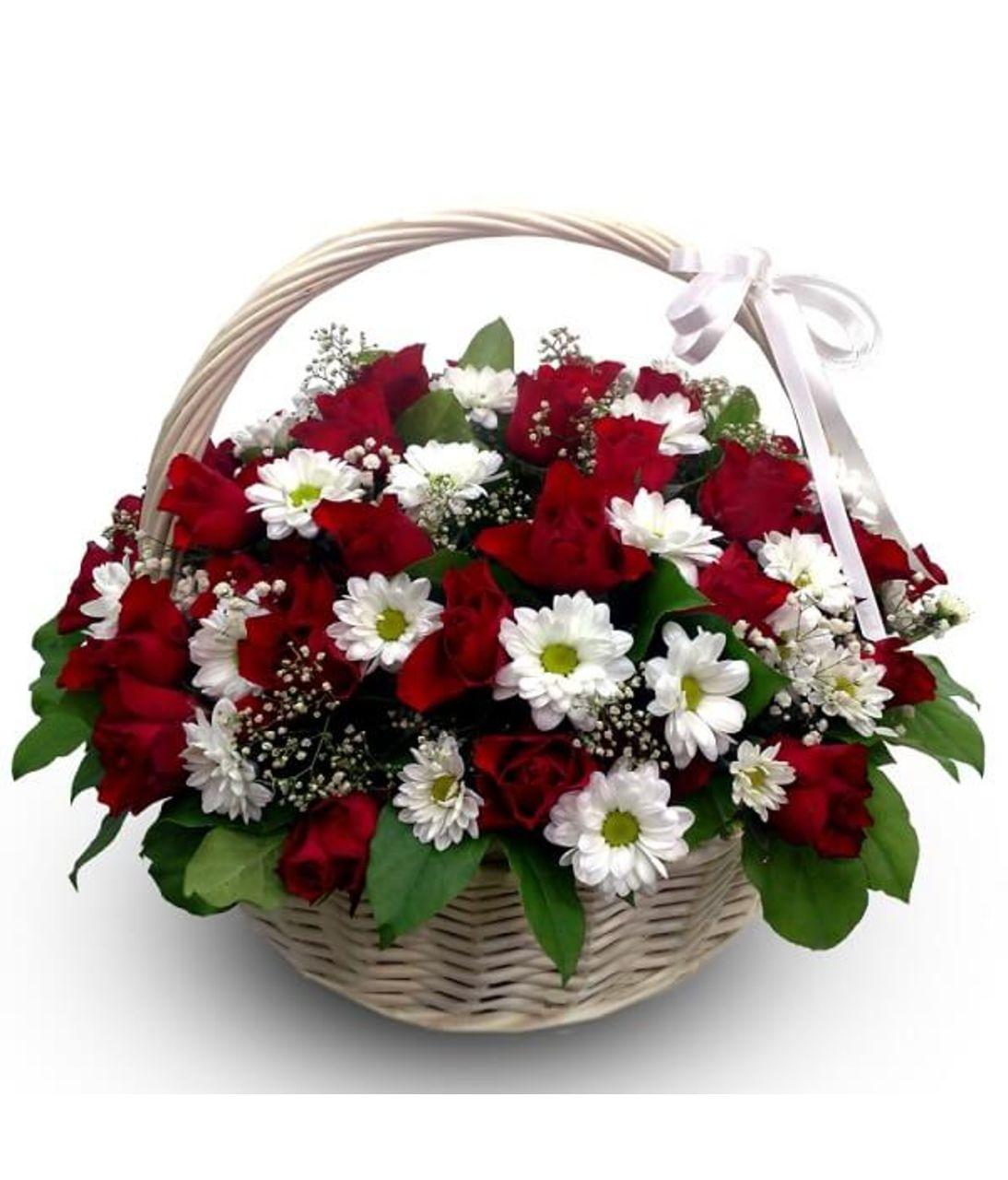 "Кошик квітів ""З любов'ю"". Superflowers.com.ua"