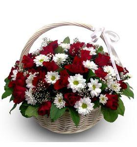 """Корзина цветов """"С любовью"""""""