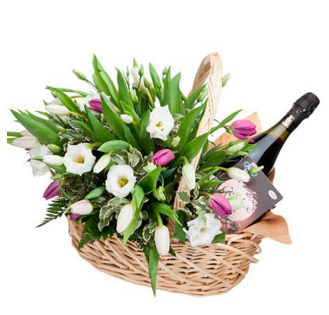 """Кошик квітів """"Весняна фантазія"""". Superflowers.com.ua"""