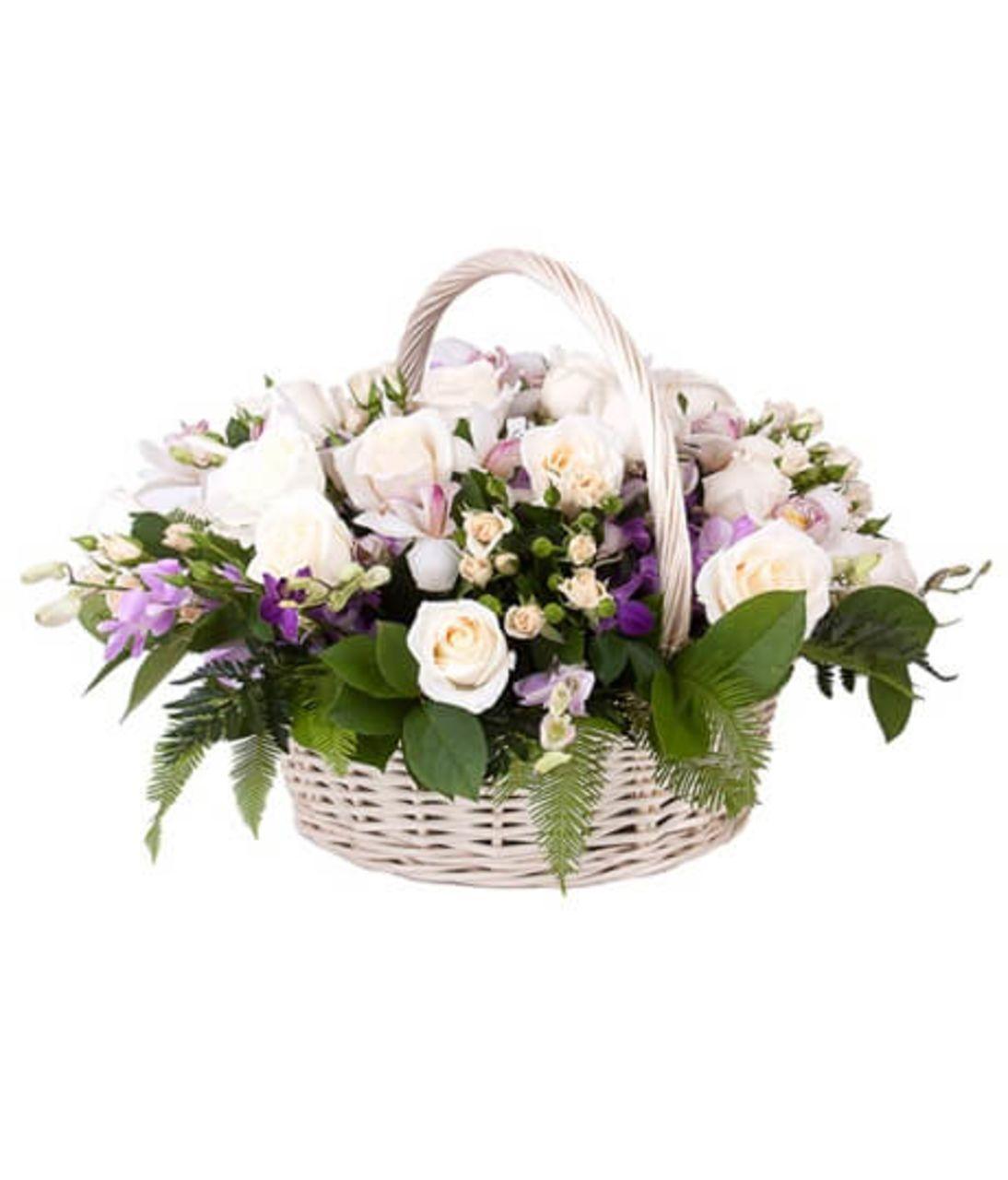 """Кошик квітів """"Чарівна казка"""". Superflowers.com.ua"""