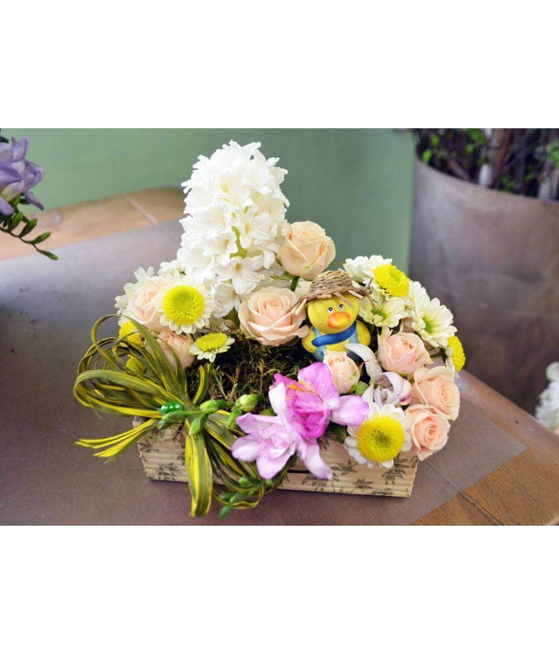 """Корзина цветов """"Ярче солнца"""". Superflowers.com.ua"""