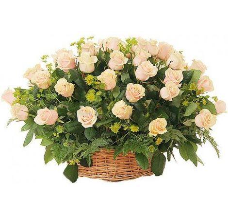 "Корзина из 35 роз ""Свежесть"". Superflowers.com.ua"