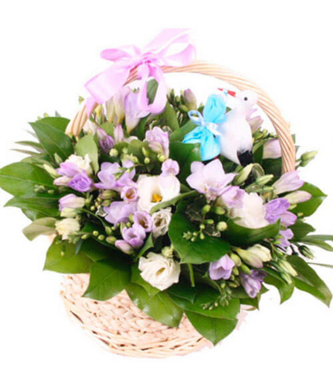 Кошик з фрезій. Superflowers.com.ua