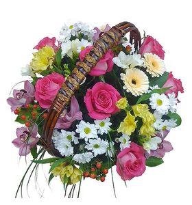 """Корзина с цветами """"Удачный день"""""""