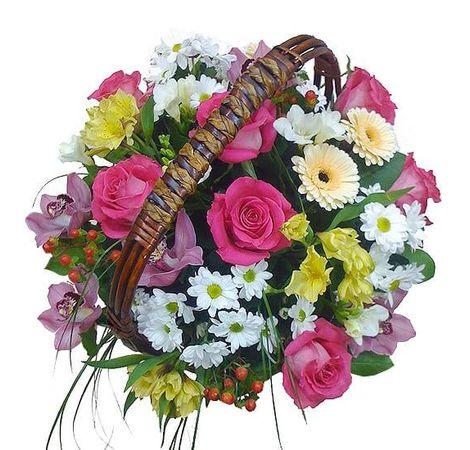 Корзина с цветами Удачный день