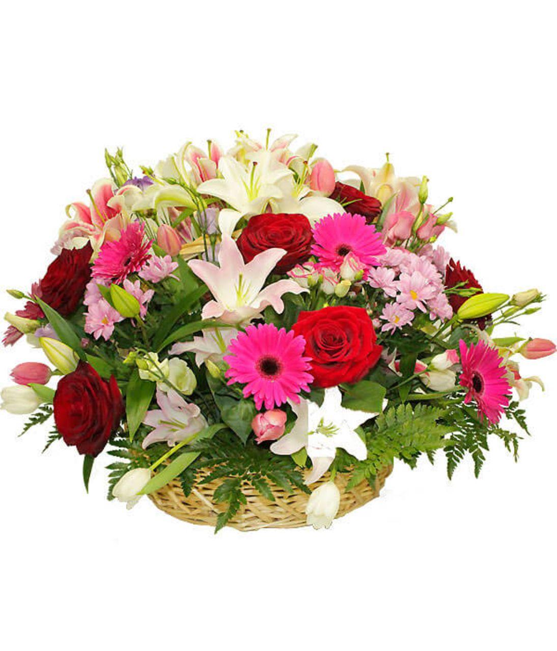 Остров везения. Superflowers.com.ua. Доставка корзины цветов в Киеве