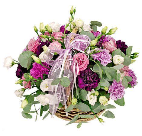 """Цветы в корзине """"Праздничные!"""". Superflowers.com.ua"""