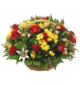 """Корзина цветов """"Восхищение"""""""