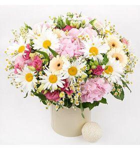 Большой летний букет цветов