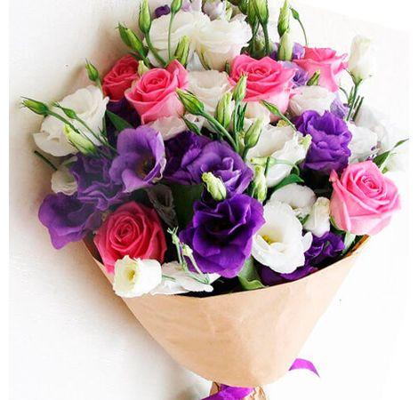 "Букет цветов микс ""Гавань"". Superflowers.com.ua"