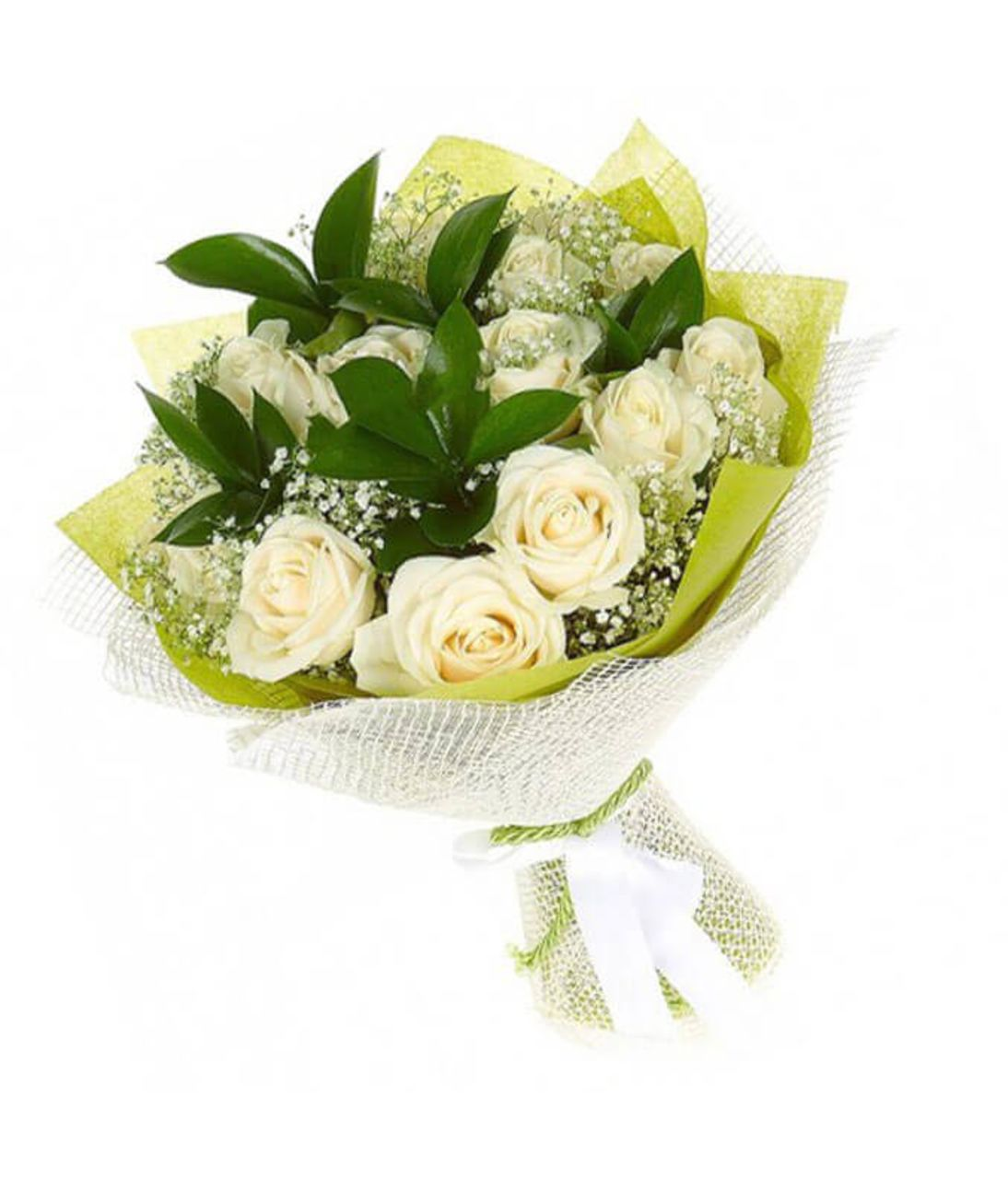 "Букет 9 белых роз ""Глория"". Superflowers.com.ua"
