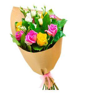 Букет цветов из роз и эустом