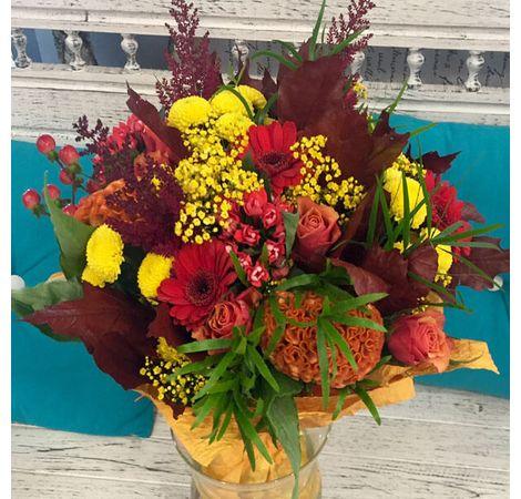 """Сборный букет цветов """"Осенний вальс"""". Superflowers.com.ua"""