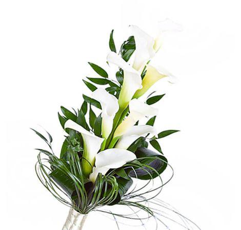 """Букет из 7 белых калл """"Фея"""". Superflowers.com.ua"""