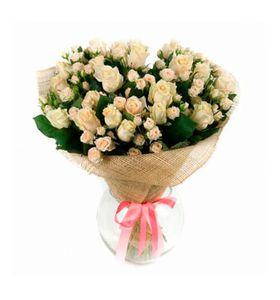 """Букет из 11 кустовых роз, 50см """"Софи"""""""