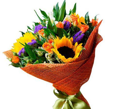"""Букет соняшнику """"Літня мрія"""". Superflowers.com.ua"""
