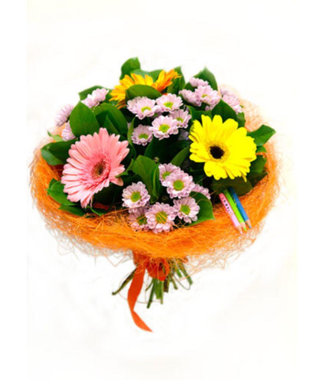 "Букет на 1 сентября ""Переменка"". Superflowers.com.ua"