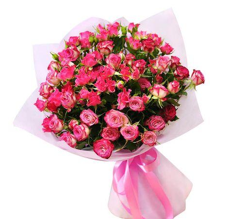 """Букет розовой кустовой розы """"Любовь"""". superflowers.com.ua"""
