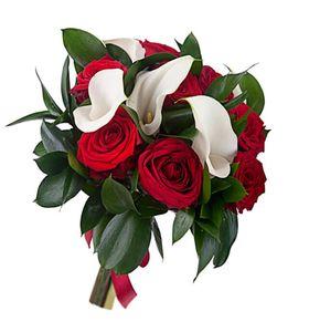 """Букет с розами и каллами """"Утонченность"""""""